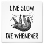 Live Slow, Die Whenever Photographic Print