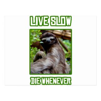 Live Slow Die Whenever Postcard