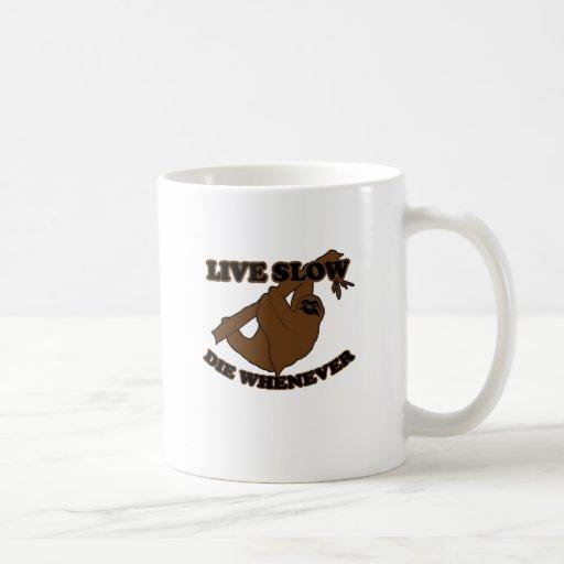 live slow t shirt L.png Classic White Coffee Mug