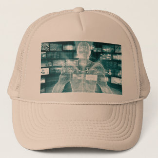 Live Streaming Content Entertainment with Audience Trucker Hat