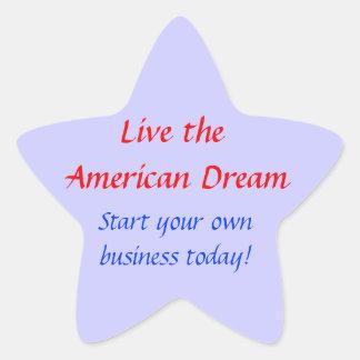 Live the American Dream Star Sticker