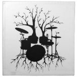 Live the Beat to the Tempo of Creation ~ drum Cloth Napkin