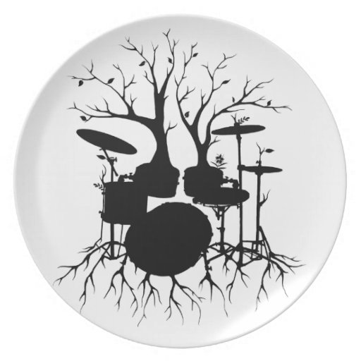 Live the Beat to the Tempo of Creation ~ drum Party Plates