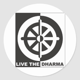 Live the Dharma Classic Round Sticker