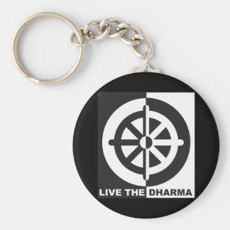 Live the Dharma Key Chain