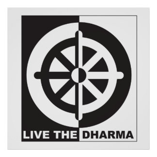 Live the Dharma Poster
