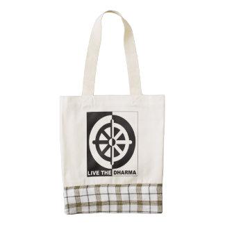 Live the Dharma Zazzle HEART Tote Bag