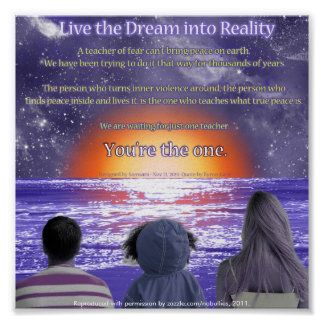 Live the Dream into Reality Inspirational Poster