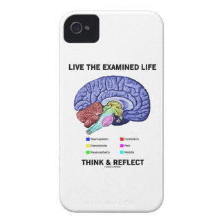 Live The Examined Life Think & Reflect (Brain) Case-Mate iPhone 4 Case