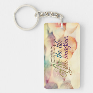 Live The Life Colorful Sea Shells Motivational Keychain