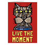 """Live the Moment"" Notecard"