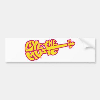 Live the Music Car Bumper Sticker