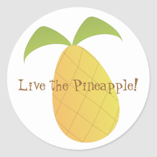 Live the Pineapple Classic Round Sticker