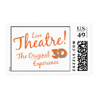 Live Theatre! The Original 3D Experience Postage Stamp