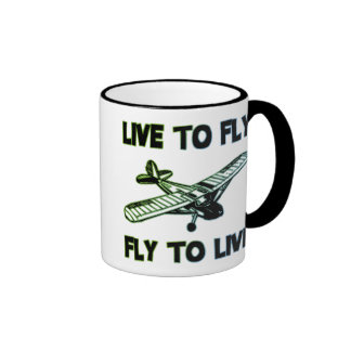 LIVE TO FLY, FLY TO LIVE RINGER MUG