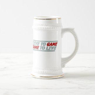 Live to Game Coffee Mugs