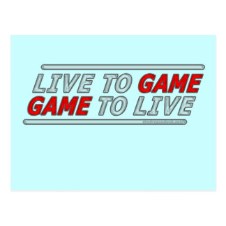Live to Game Postcard