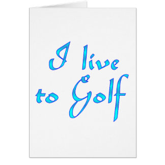 Live to Golf Card