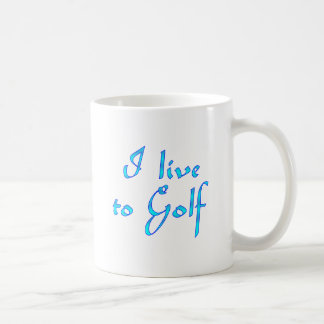 Live to Golf Coffee Mug