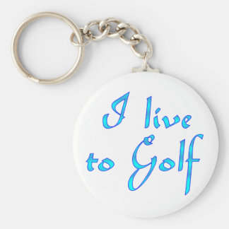 Live to Golf Key Chains