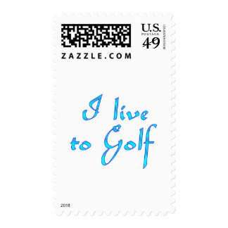 Live to Golf Postage