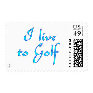Live to Golf Postage Stamps