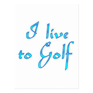 Live to Golf Postcard