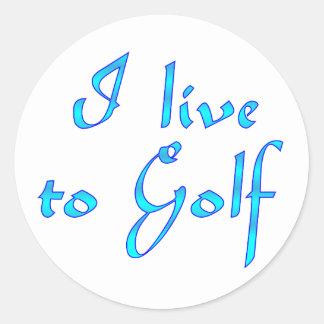 Live to Golf Sticker
