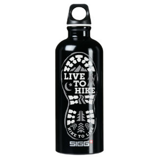 Live to Hike Aluminum Water Bottle