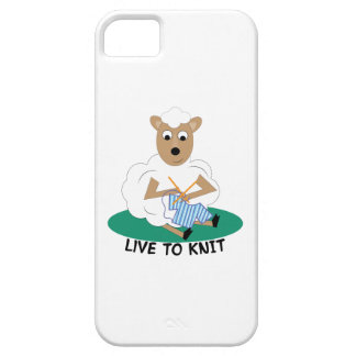 Live To Knit iPhone 5 Case
