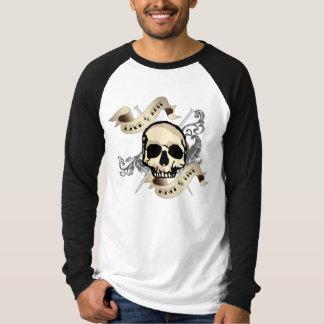 Live to Knit long sleeve raglan t-shirt