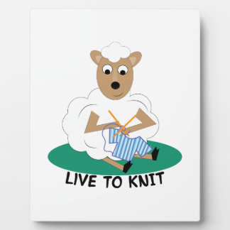 Live To Knit Display Plaques