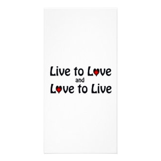 Live To Love Card
