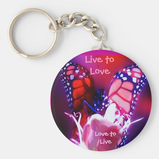 Live to Love Key Ring - Customized Keychains