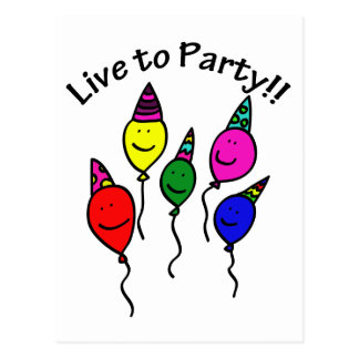 Live to Party Postcard