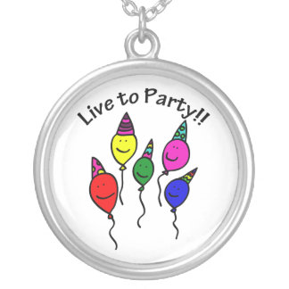 Live to Party Round Pendant Necklace