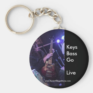 Live to Play Bass Keychain