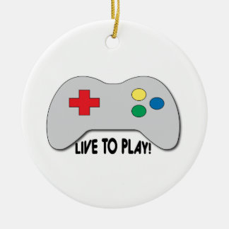 Live To Play Ceramic Ornament