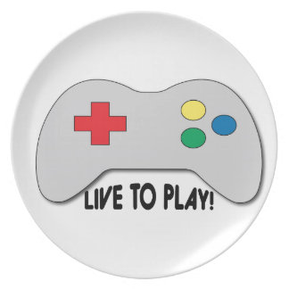 Live To Play Dinner Plates