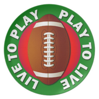 Live To Play Play To Live Football Dinner Plate