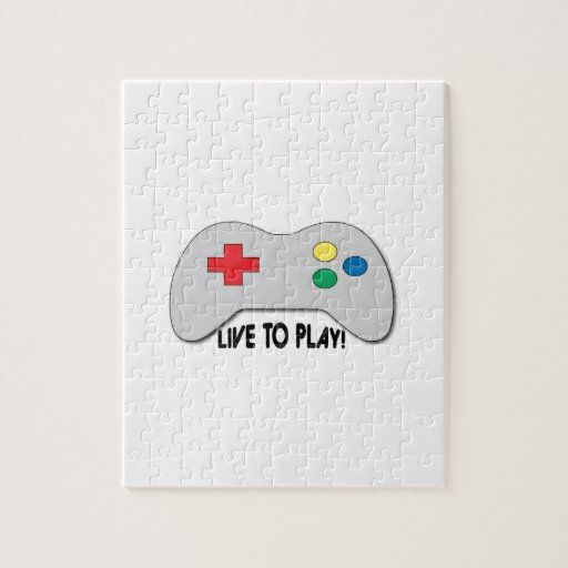 Live To Play Puzzle
