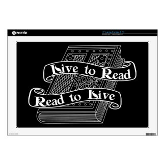 Live to Read Decal For Laptop
