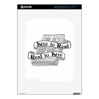 Live to Read Decals For iPad 3