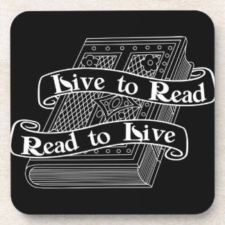 Live to Read Drink Coaster