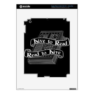 Live to Read iPad 3 Skin