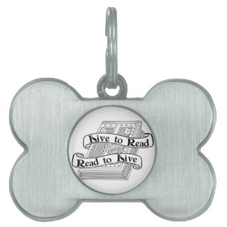 Live to Read Pet Tag