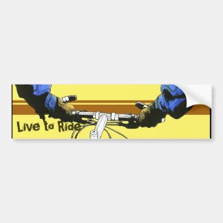 Live to Ride -blue(yellow) Car Bumper Sticker