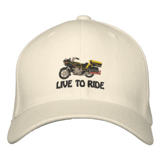 Live to Ride Embroidered Baseball Hat