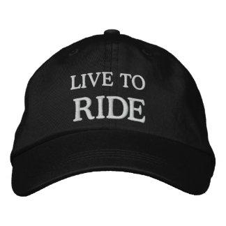 LIVE TO RIDE BASEBALL CAP