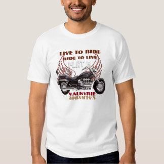 Live To Ride Flate 6 Valkyrie motorcycle design Tee Shirt